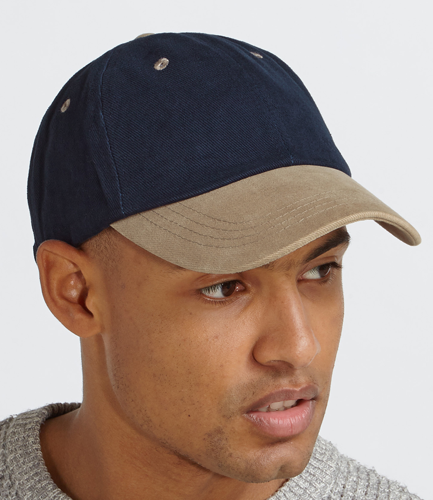 Beechfield CAP LOW PROFILE BASEBALL HAT SPORTS SUMMER 6 PANEL CURVED PEAK COTTON